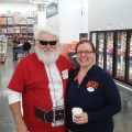 Santa Shops at Sam's Club