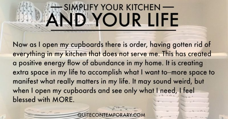 simplify kitchen and life with quote - Quite Contemporary - simplify quote