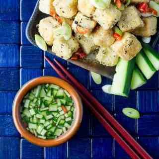 Crispy salt and pepper tofu.