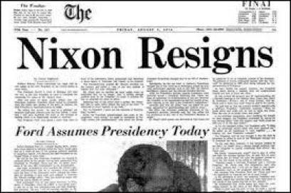 En 1974, le président américain a dû démissionner à cause du « Scandale du Watergate » révélé par le journal « The New York Times ».