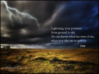 Famous quotes about 'Lightning'