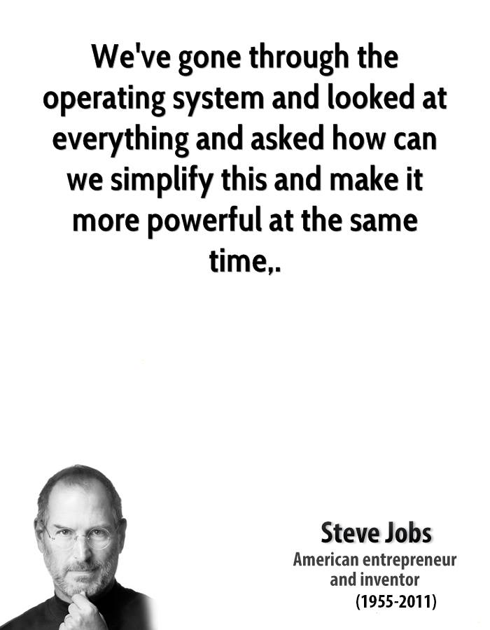 Steve Jobs Quotes QuoteHD - simplify quote
