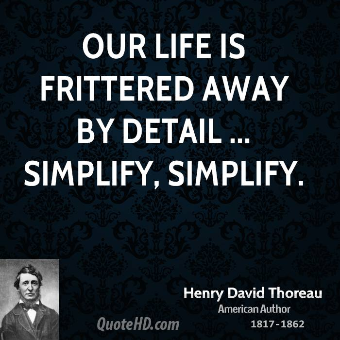 Henry David Thoreau Quotes QuoteHD - simplify quote