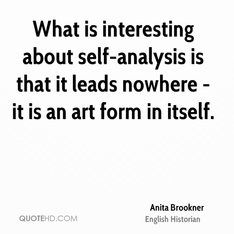 Anita Brookner Quotes QuoteHD - what is an analysis