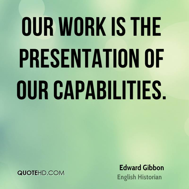 Edward Gibbon Business Quotes QuoteHD - quote on presentation