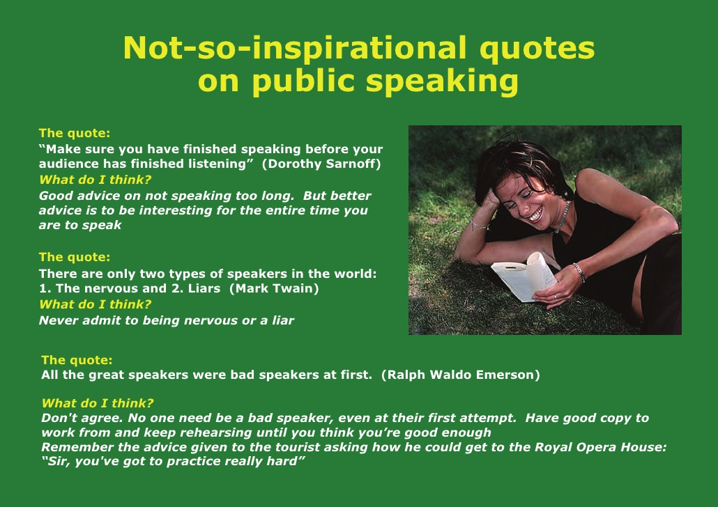 Quotes about Nervous public speaking (19 quotes)