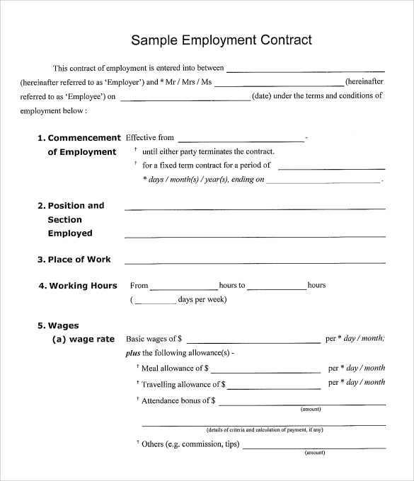 Quotes about Employment contracts (20 quotes)