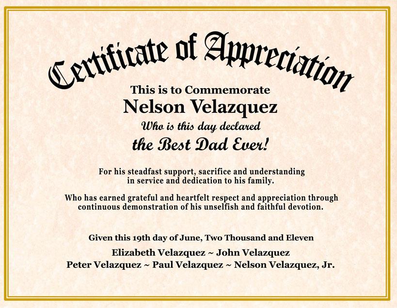 sample appreciation certificates templates datariouruguay - example of certificate of appreciation