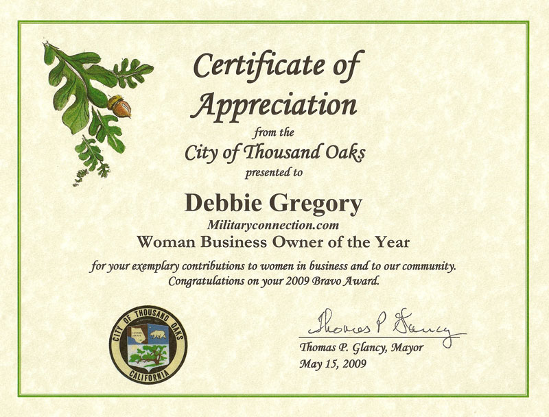 certificate of recognition for years of service - Pinar