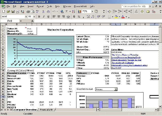 Financial Link for Excel 118 Screenshots