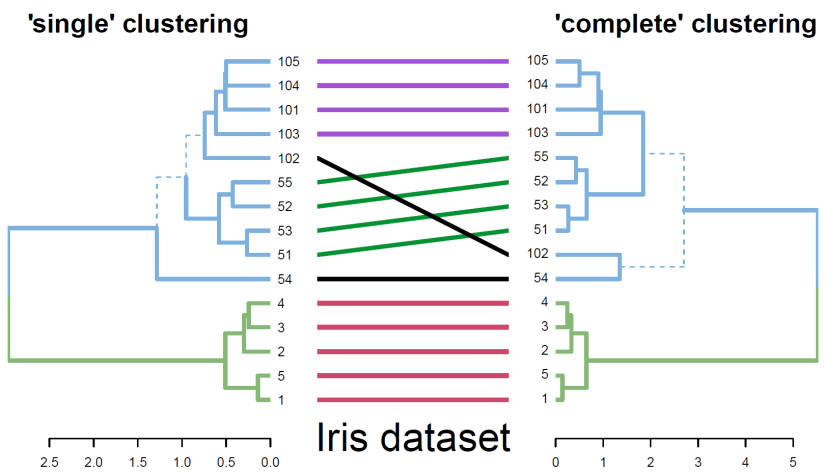 """dendextend: a package for visualizing, adjusting, and comparing dendrograms (based on a paper from """"bioinformatics"""")"""