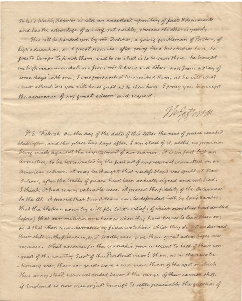 Thomas Jefferson 1815 Autograph Letter Signed The Raab Collection