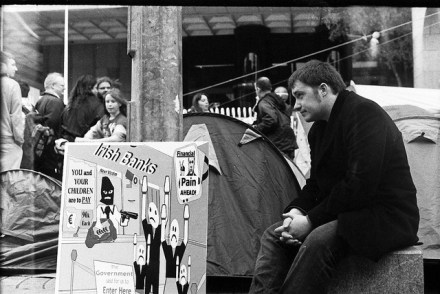 Ireland's Central Bank during Occupy. (Paul Reynolds)