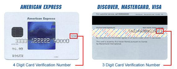 Credit Card Sample - RaceAway Hospitality