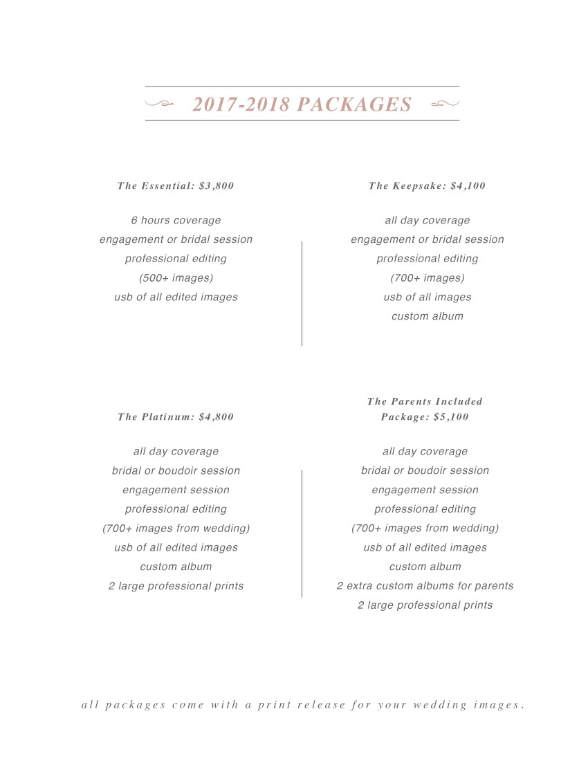 Pricing Packages 2017