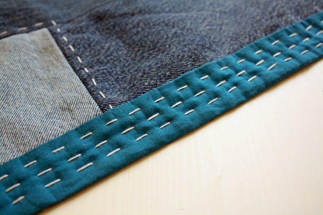 denim quilt made from old jeans - rachel swartley
