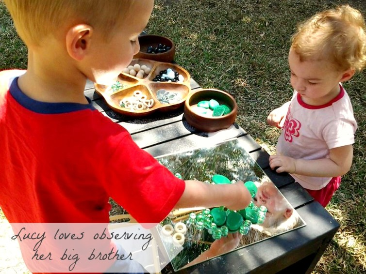 reggio provocation mirrors outdoors