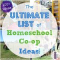The Ultimate List of Homeschool Co-op Ideas - 100+ Meaningful Learning Experiences! | Racheous - Lovable Learning