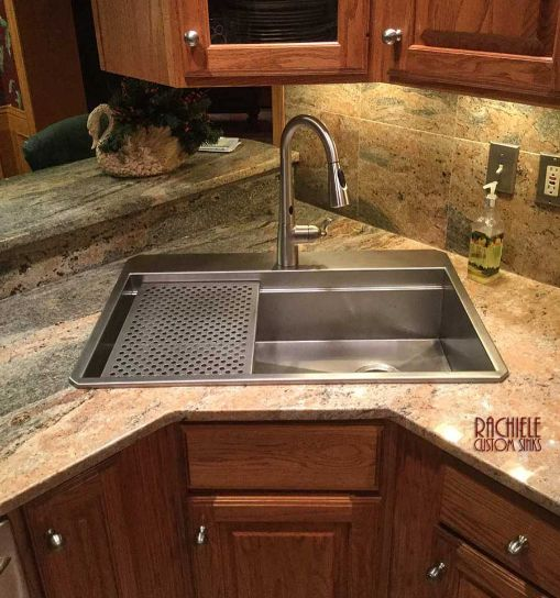 Custom Top Mount Retrofit Stainless Kitchen Sinks By