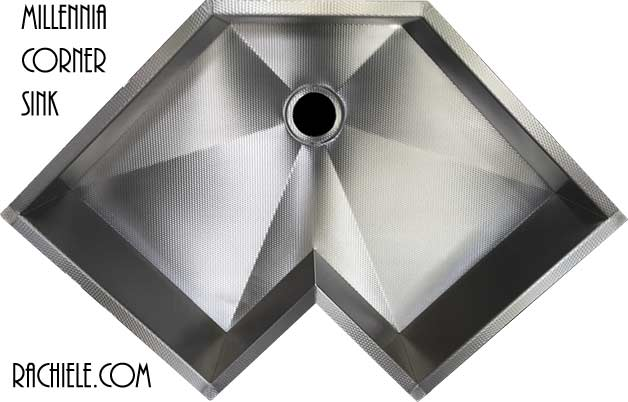 Corner single bowl custom stainless steel kitchen sinks