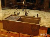 Copper Farmhouse Sinks hand-crafted in the USA.