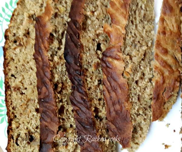 wholewheat banana walnut bread