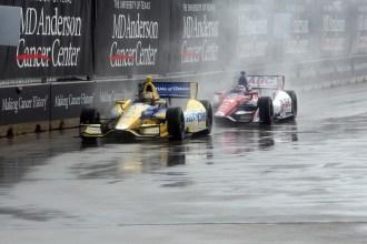 Marco Andretti und Takuma Sato (c) Richard Dowdy/IndyCar Media