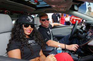 Celebrities Attend Bank of America 500