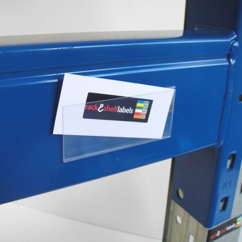 Plastic Magnetic Label Holders 39mm X 100mm Rack Shelf
