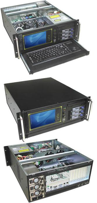 4u Rackmount Chassis With Lcd Monitor And Keyboard Rm4019