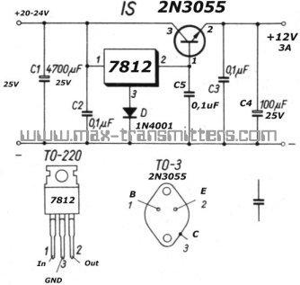 10 volt regulator lm317t circuit diagram