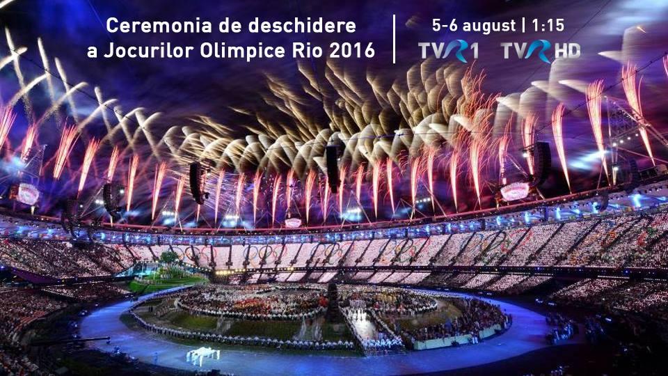 Deschidere Rio 2016 TVR