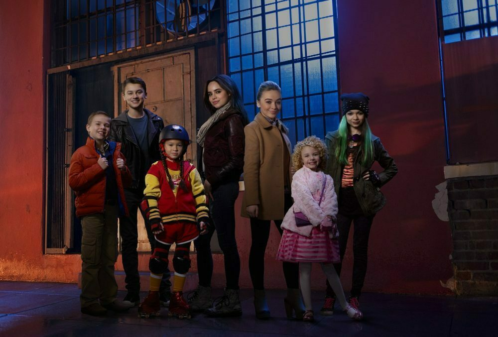 "ADVENTURES IN BABYSITTING - Disney Channel's original movie ""Adventures in Babysitting"" stars Jet Jurgensmeyer as Bobby, Max Gecowets as Trey, Madison Horcher as AJ, Sofia Carson as Lola, Sabrina Carpenter as Jenny, Mallory James Mahoney as Katy and Nikki Hahn as Emily. (Disney Channel/Bob D'Amico)"