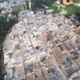 foto scattata vigili del fuoco dall'alto terremoto