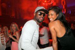 Gabby Union and Dwyane Wade2 300x200 Rick Ross, Gabby Union, Dwyane Wade at Hennessy V.S South Beach Events