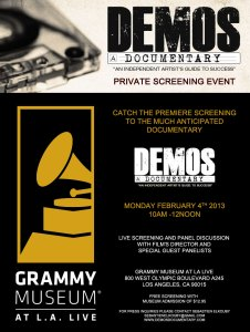 demos screening 226x300 Highly Anticipated DEMOS Documentary Film to Screen at The Grammy Museum