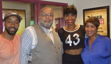 Akil Maxx JHud Traci  e1404836547905 Jennifer Hudson Looking Great at WHUR