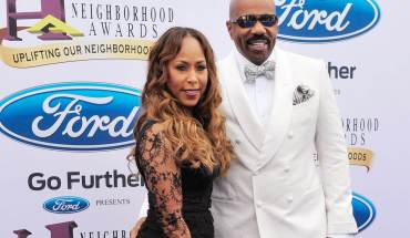 ATLANTA, GA - AUGUST 09:  Marjorie Bridges-Woods (L) and Steve Harvey attend the 2014 Ford Neighborhood Awards Hosted By Steve Harvey at Georgia World Congress Center on August 9, 2014 in Atlanta, Georgia.  (Photo by Moses Robinson/Getty Images for Nu-Opp, Inc.)