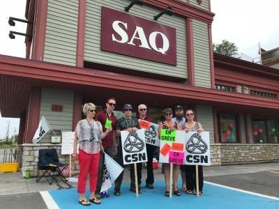 Les employés de la SAQ en grève à Gaspé