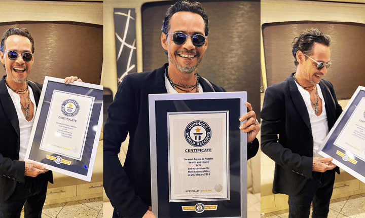 Marc Anthony obtiene su tercer título de récord Guinness World Records