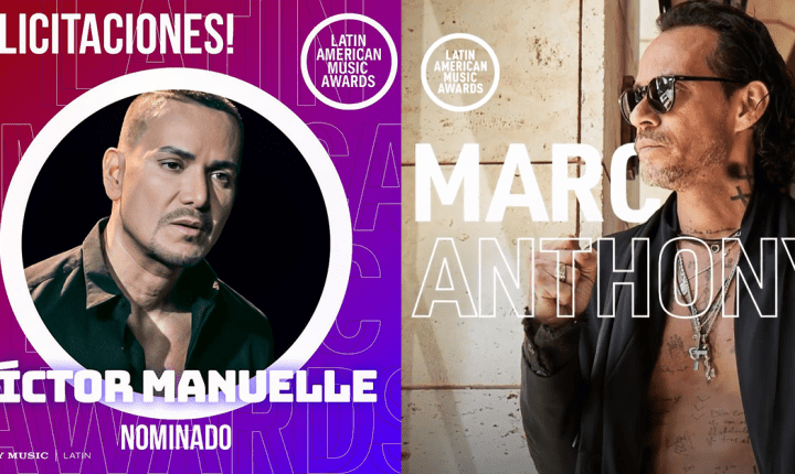 Marc Anthony y Víctor Manuelle nominados en los Latin American Music Awards 2021