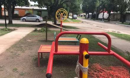 Inauguran las remodelaciones de la Plaza Alborada