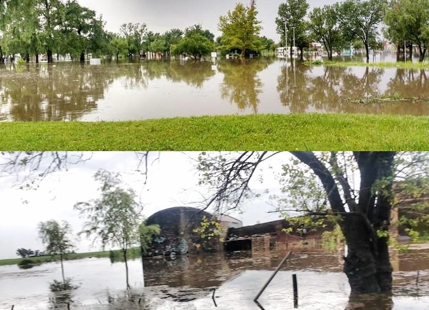 En Leones cayeron 175 mm. en 4 horas y hubo 30 evacuados