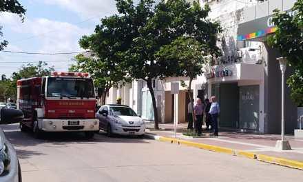 Principio de incendio en un edificio de la ciudad