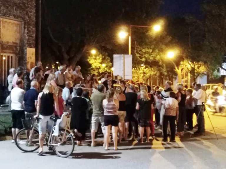 Vecinos autoconvocados reclamaron una vez más por mayor seguridad