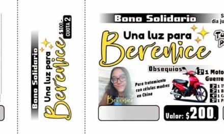 Bono solidario «Una luz para Berenice»