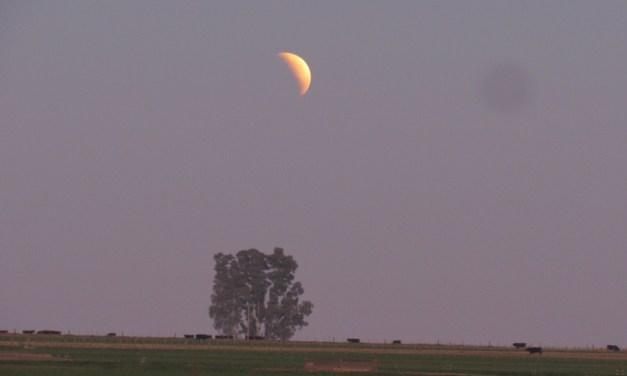 Así se vio el Eclipse parcial de Luna Llena en Las Parejas
