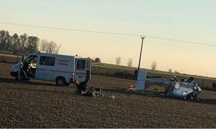 Cayó una avioneta en un campo de Carcarañá: un herido grave