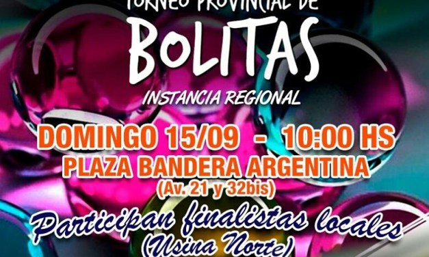 Instancia regional del Torneo de Bolitas en Las Parejas