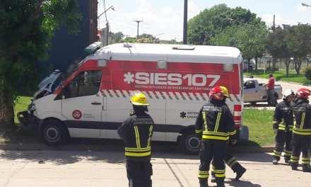 Chocó la ambulancia de Las Parejas